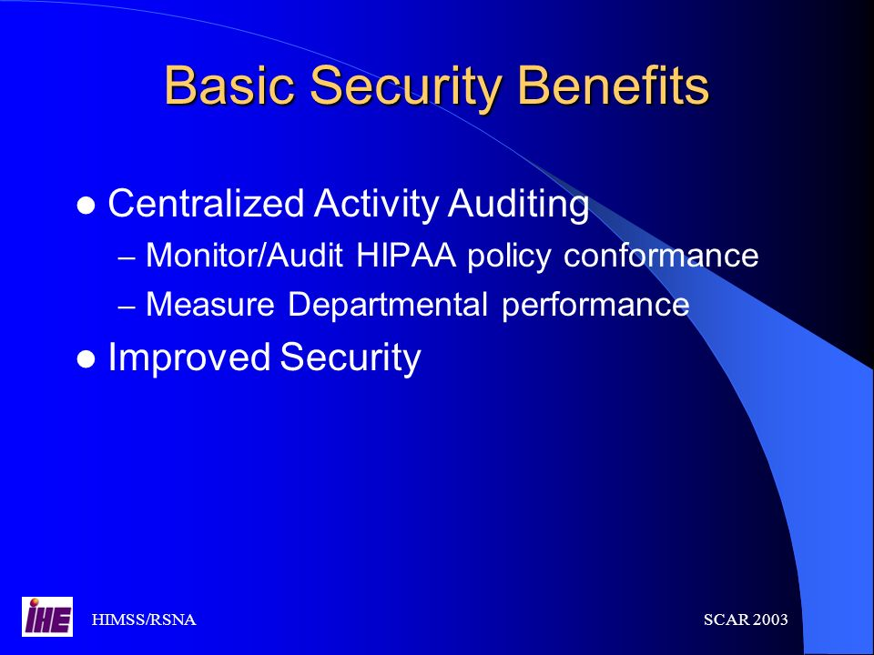 Basic Security Benefits