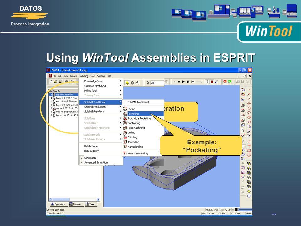 WinTool-ESPRIT CAM Interface - ppt video online download