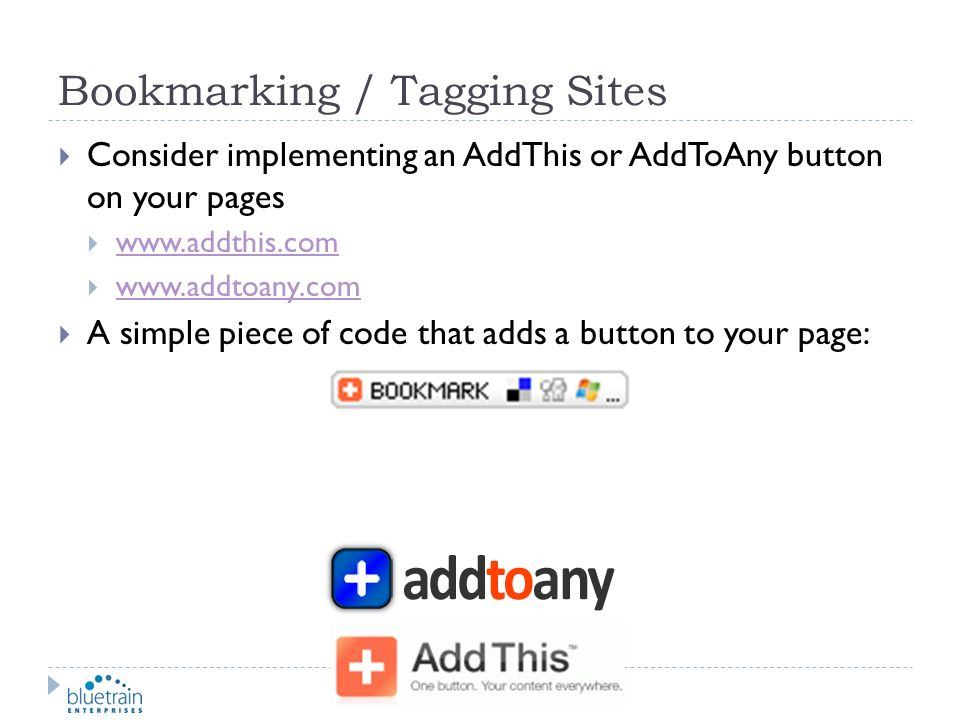 Bookmarking / Tagging Sites