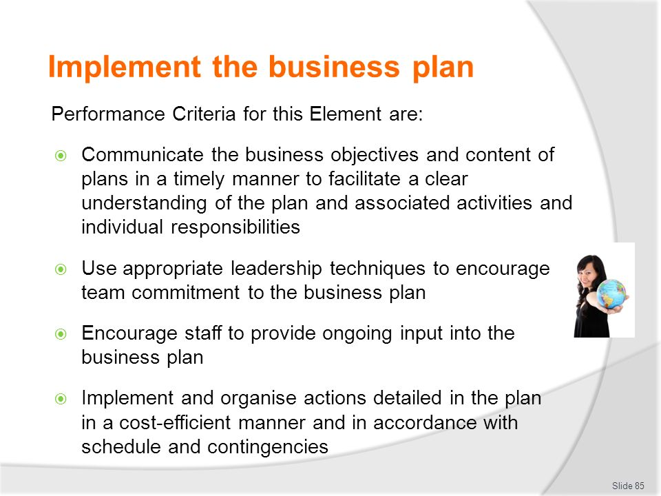 Implementing your business plan title of thesis in business management