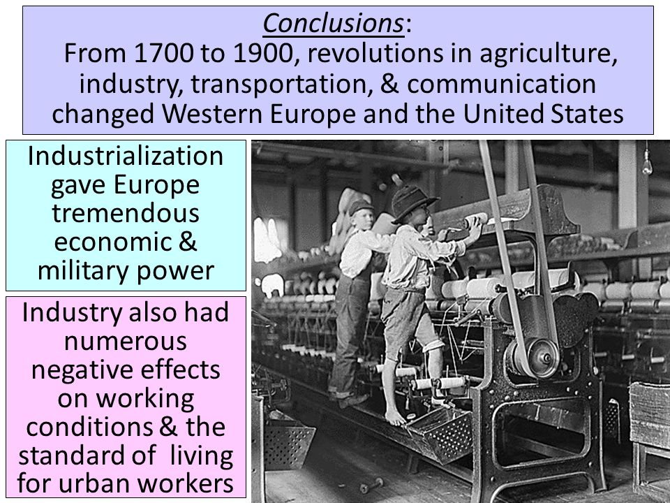Industrialization gave Europe tremendous economic & military power