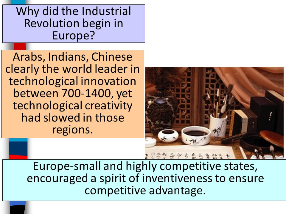 Why did the Industrial Revolution begin in Europe