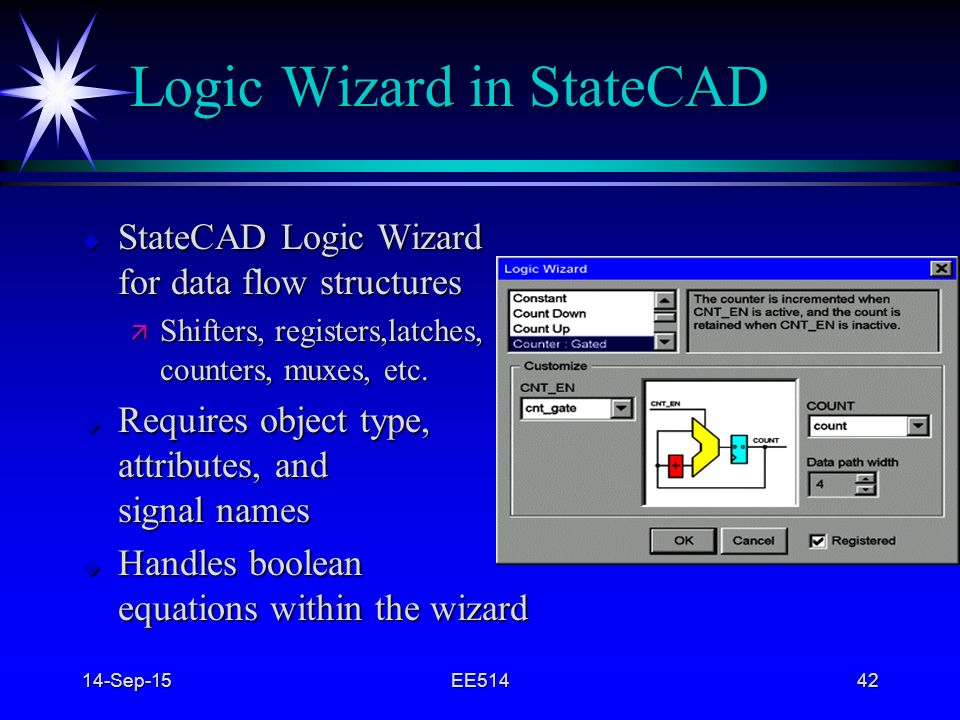 Logic Wizard in StateCAD