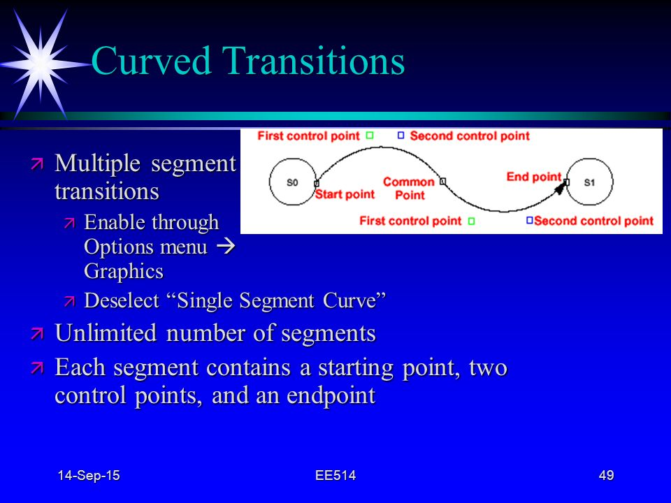 Curved Transitions Multiple segment transitions