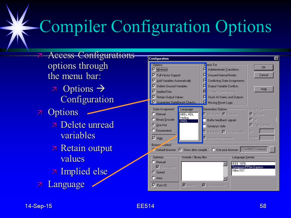 Compiler Configuration Options