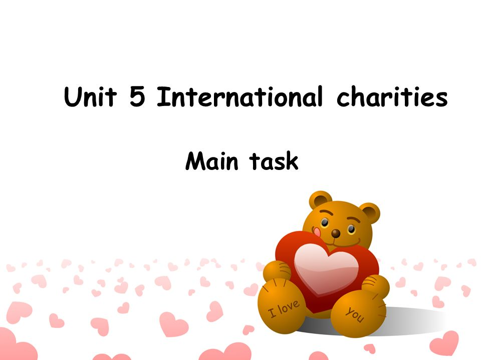 Unit 5 International charities