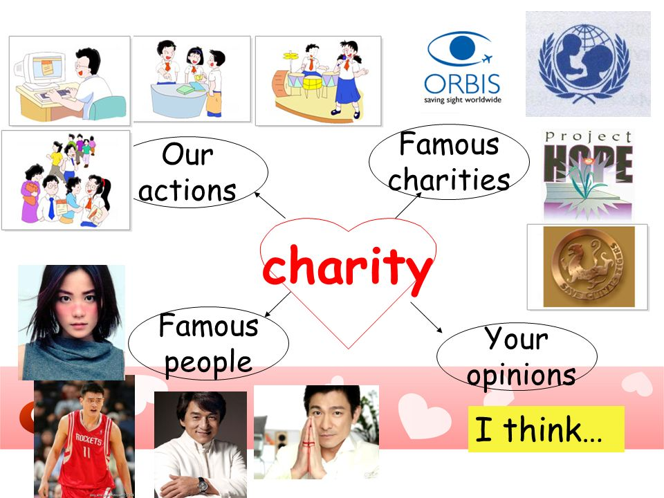 charity I think… Famous Our charities actions Famous Your people