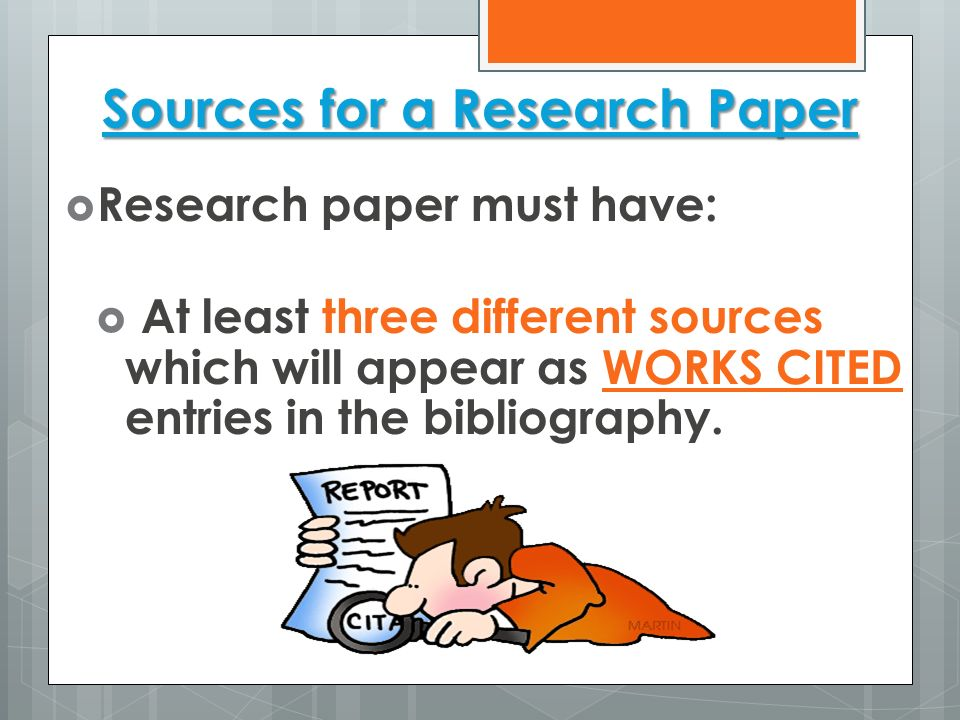 Sources for a Research Paper