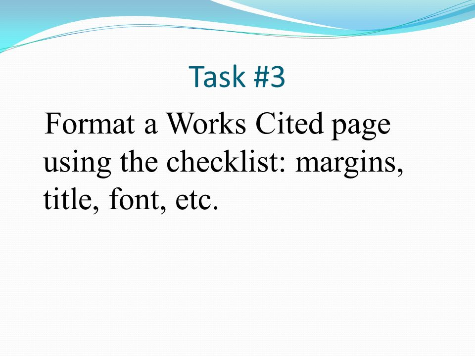 works cited assessment ppt download
