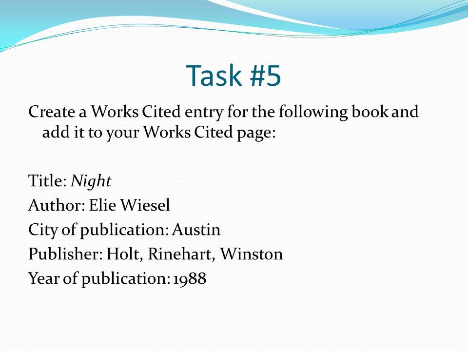 works cited assessment ppt download