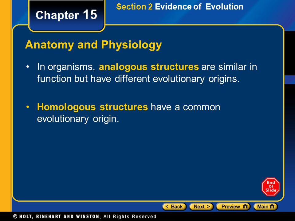 Chapter 15 Table of Contents Section 1 History of Evolutionary ...