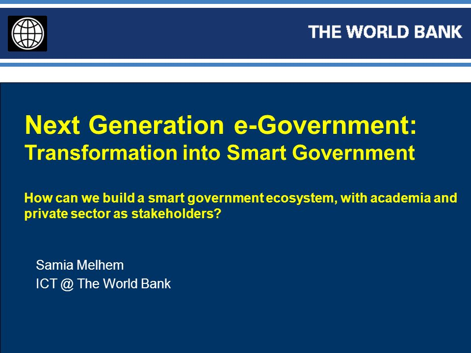 Next Generation e-Government: