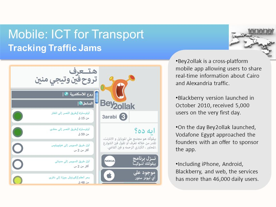 Mobile: ICT for Transport