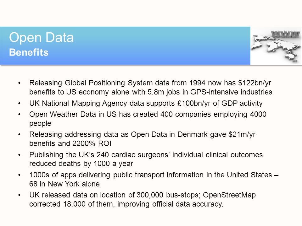 Open Data Benefits.
