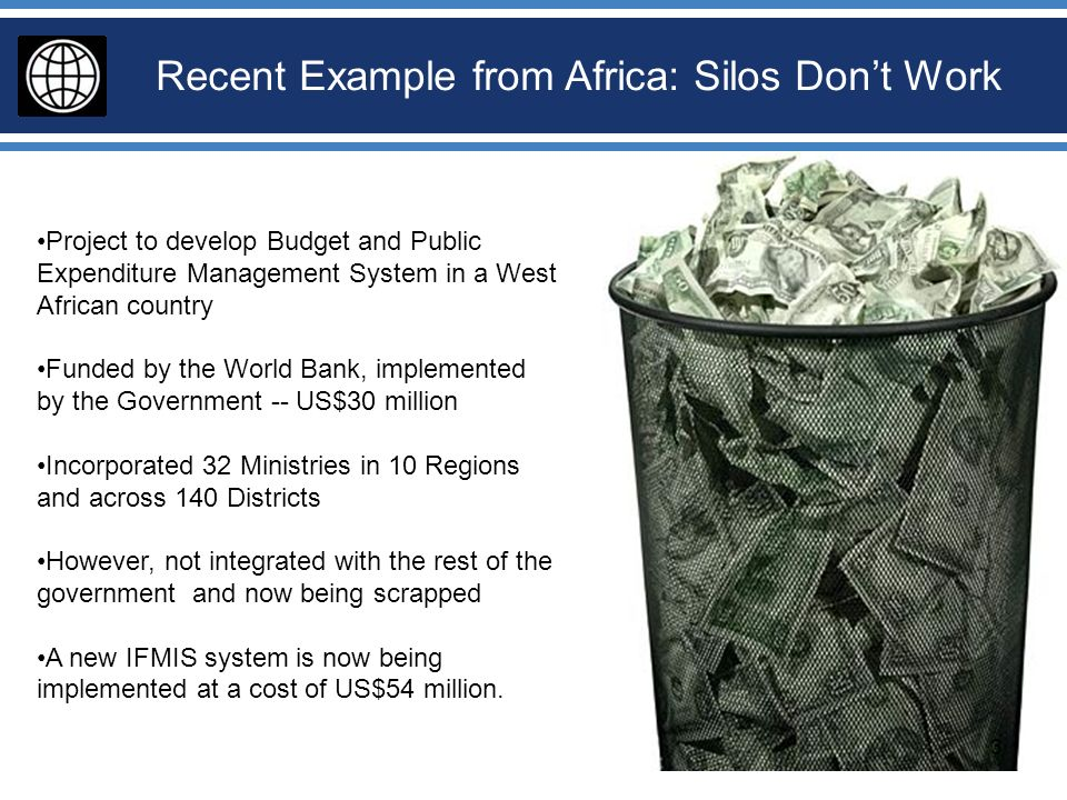 Recent Example from Africa: Silos Don't Work