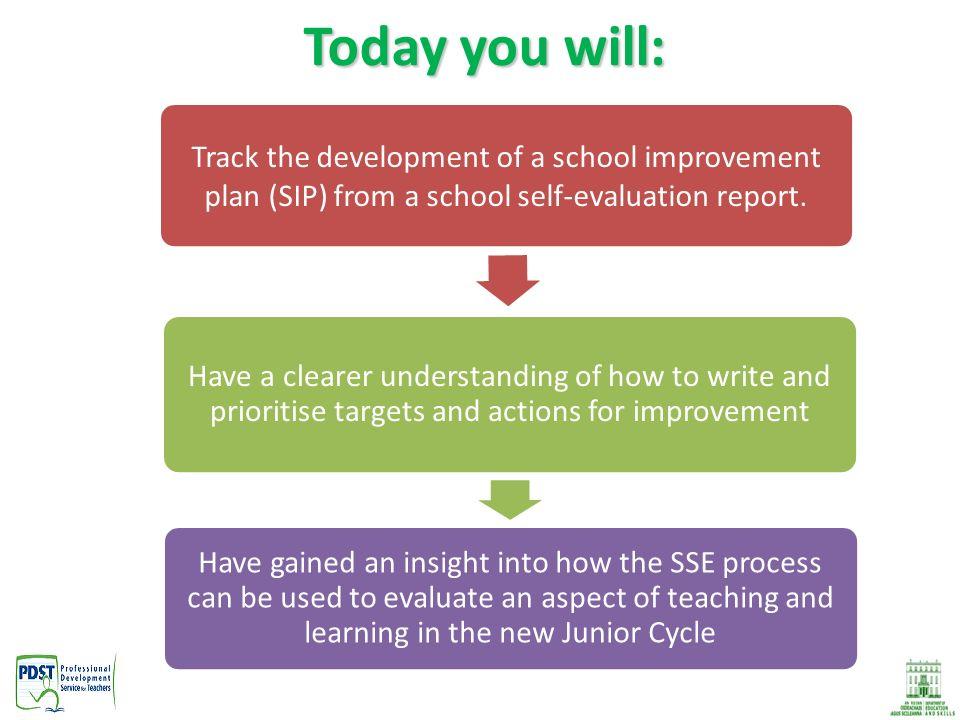 School Self Evaluation 2 Today