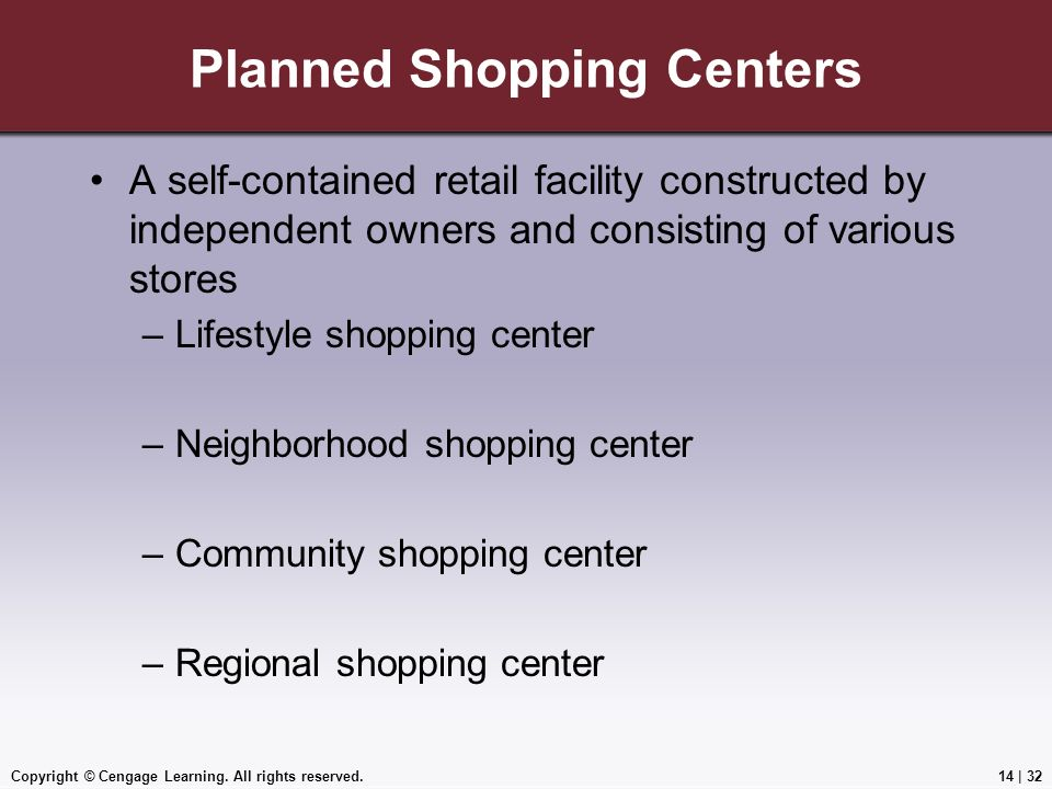 Planned Shopping Centers