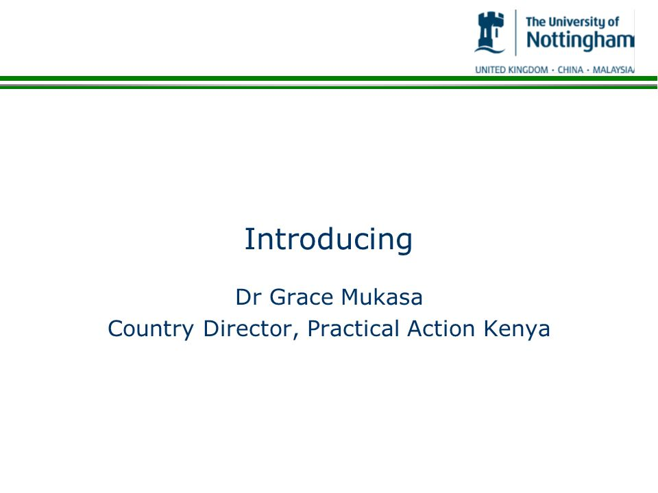 Dr Grace Mukasa Country Director, Practical Action Kenya