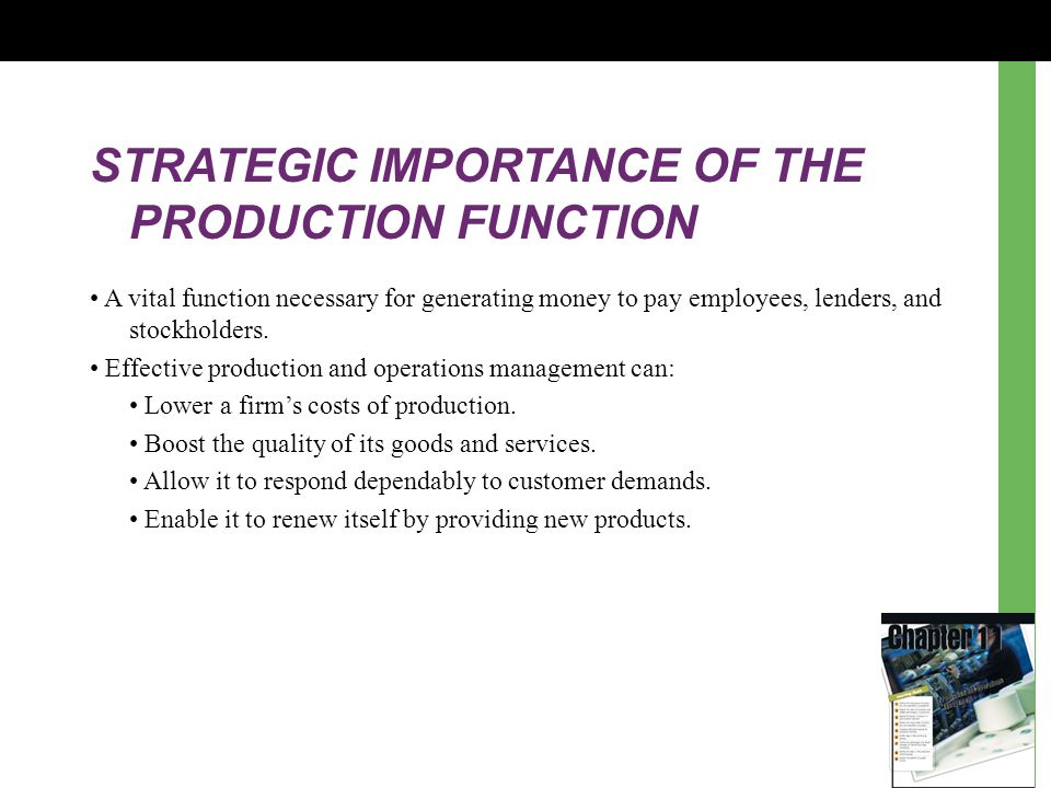 Chapter 11 Production and Operations Management Learning Goals - ppt