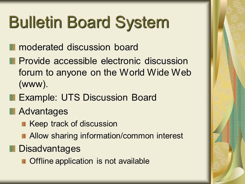 electronic bulletin board example