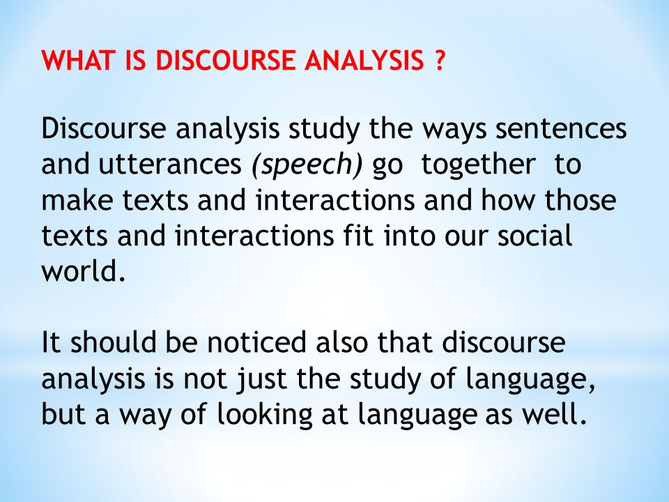 How to perform a linguistic analysis of the text