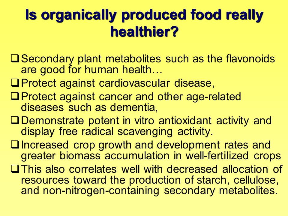 Is organically produced food really healthier