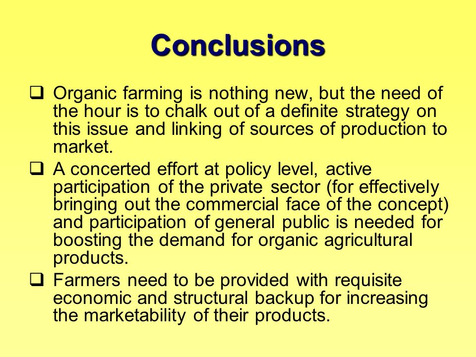 organic food conclusion