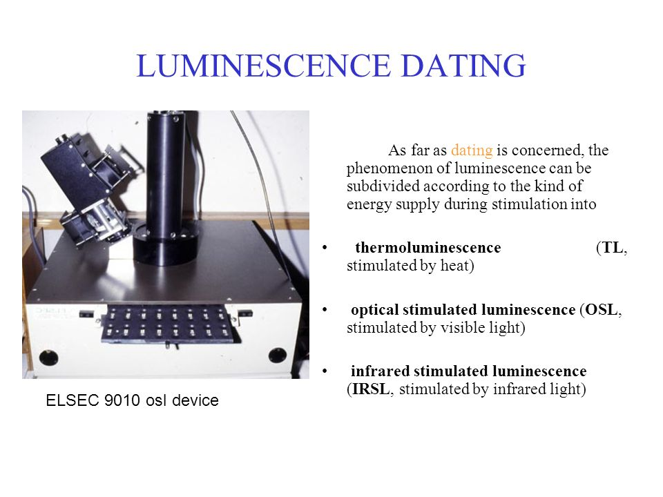 Luminescence dating labs online