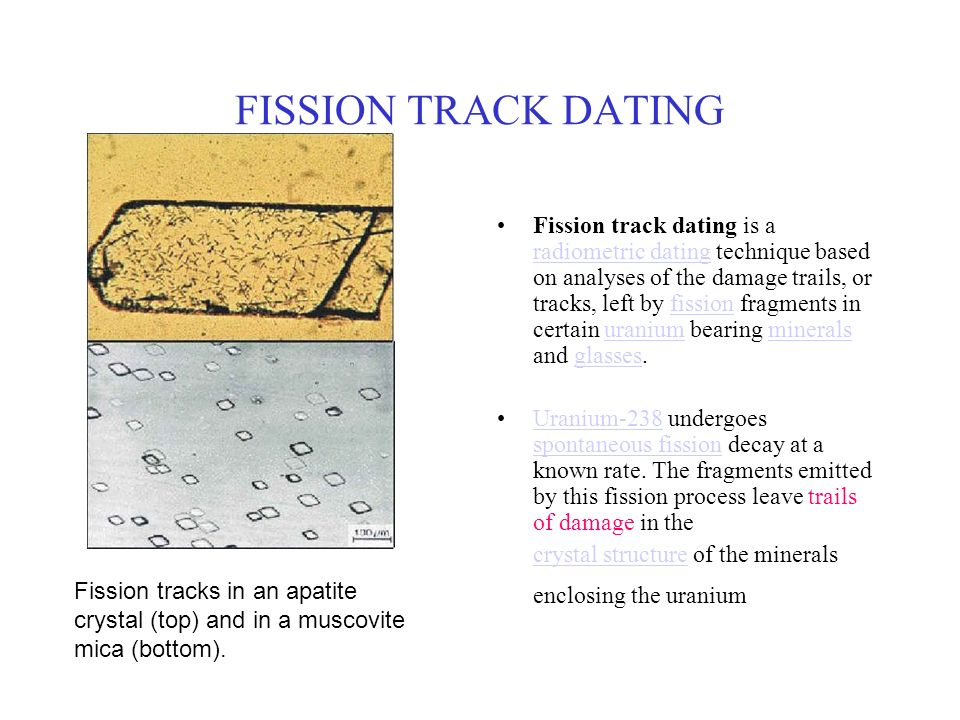 Fission track dating definition