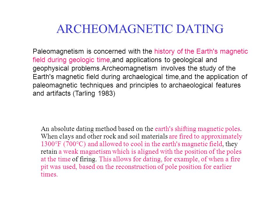 magnetic dating archaeology definition