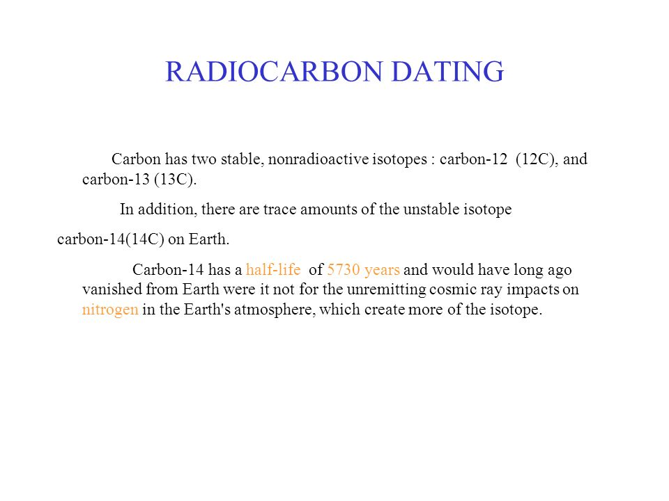 isotopes in carbon dating