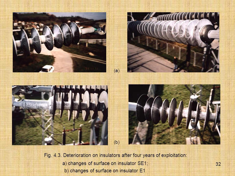 a) changes of surface on insulator SE1;