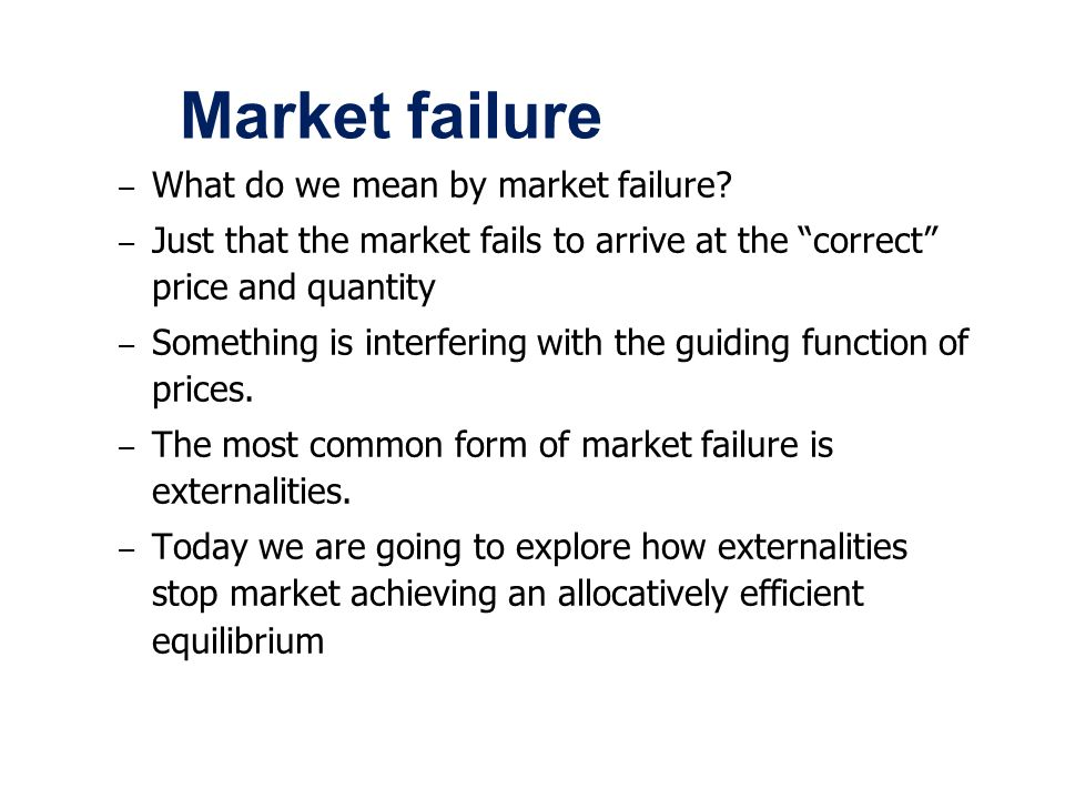 Market Failure And Resource Allocation Ppt Video Online Download