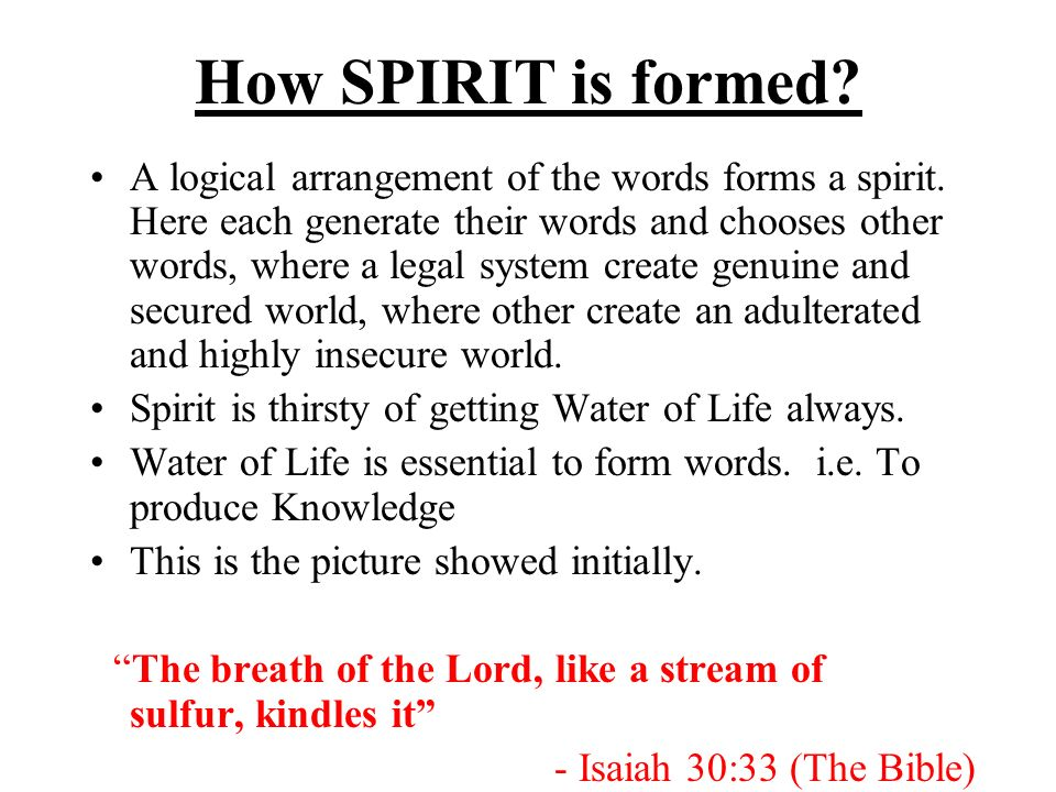 How SPIRIT is formed