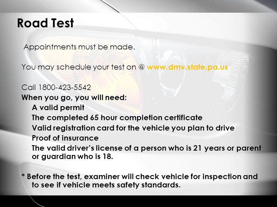 best time to schedule pa drivers test
