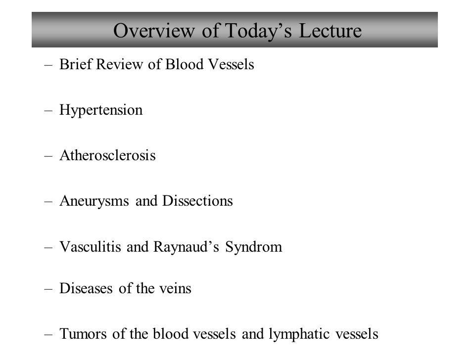 Chapter 8 disorders of blood vessels lecture 8 ppt video online overview of todays lecture fandeluxe Choice Image