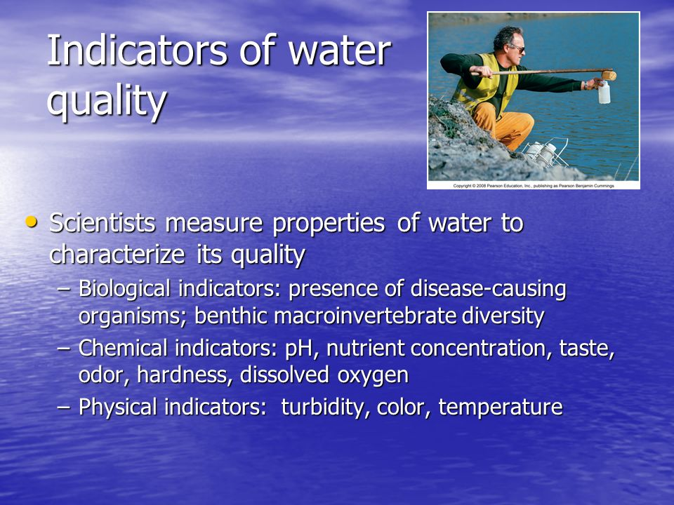 Indicators of Good Water Quality