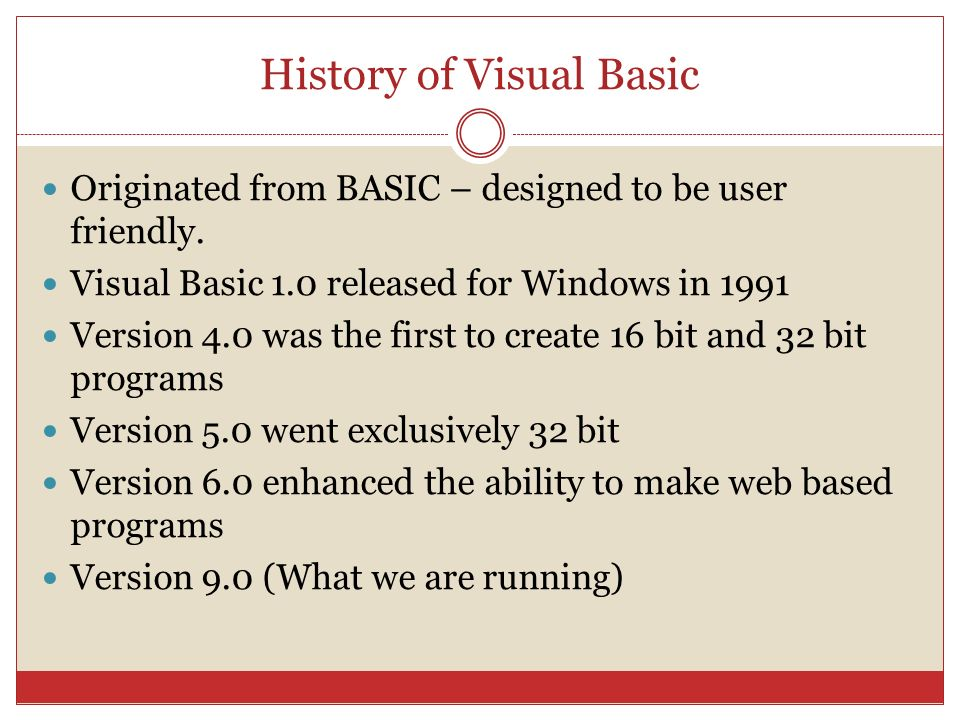 HISTORY OF VISUAL BASIC 6.0 PDF DOWNLOAD
