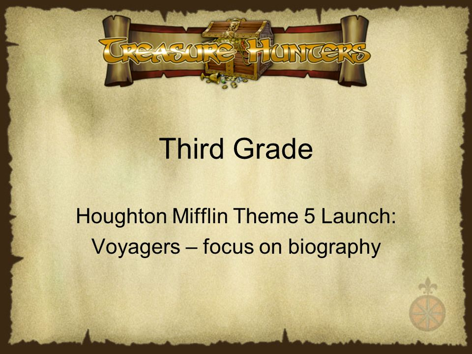 Houghton Mifflin Theme 5 Launch Voyagers Focus On Biography