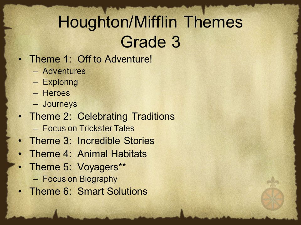 Houghton Mifflin Theme 5 Launch Voyagers Focus On