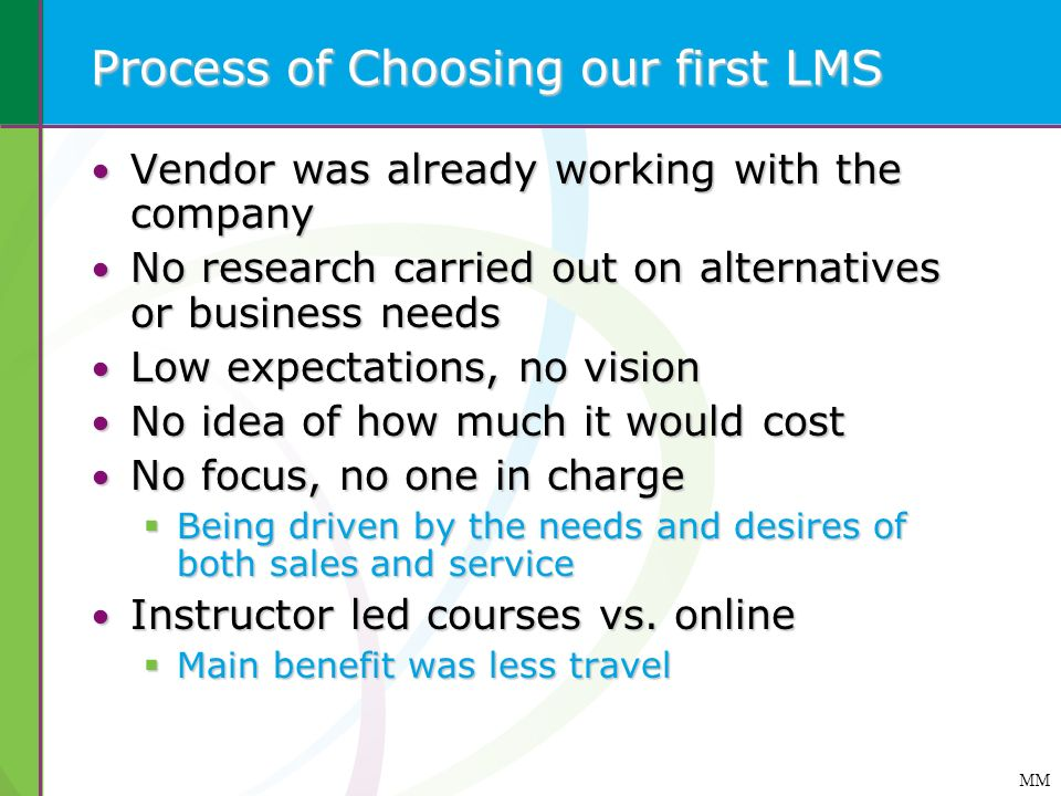 Process of Choosing our first LMS