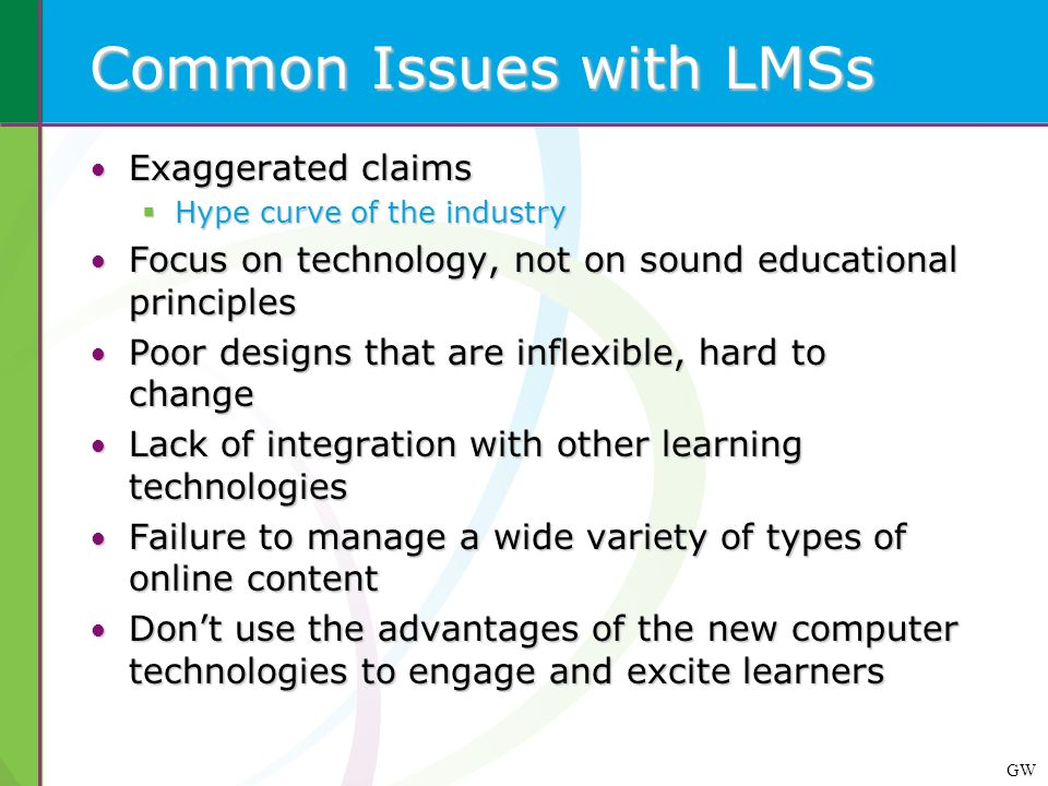 Common Issues with LMSs