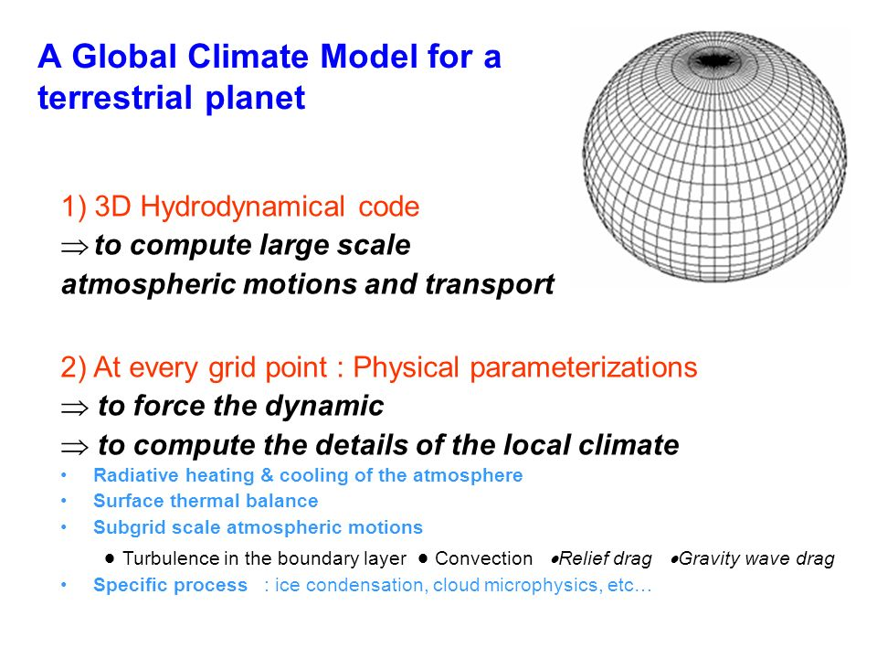 A Global Climate Model for a terrestrial planet