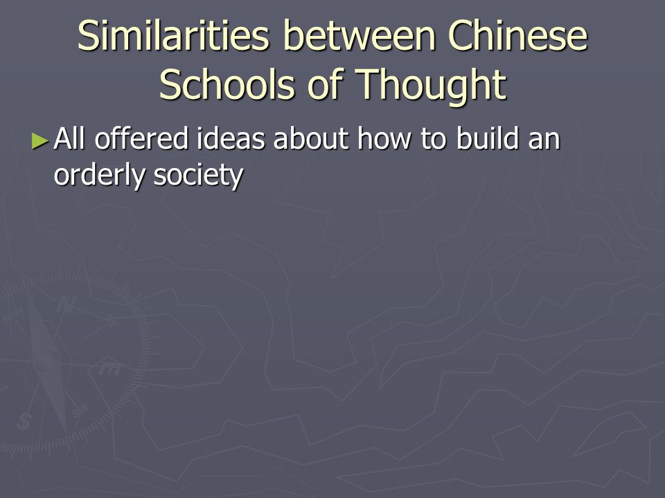 Similarities between Chinese Schools of Thought