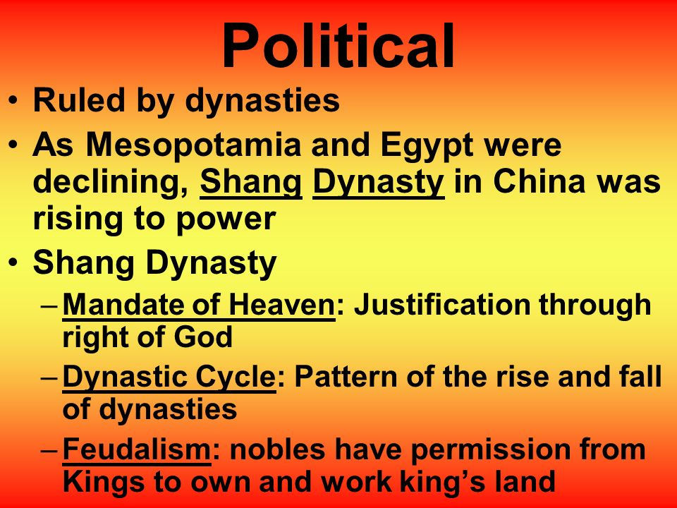 Political Ruled by dynasties