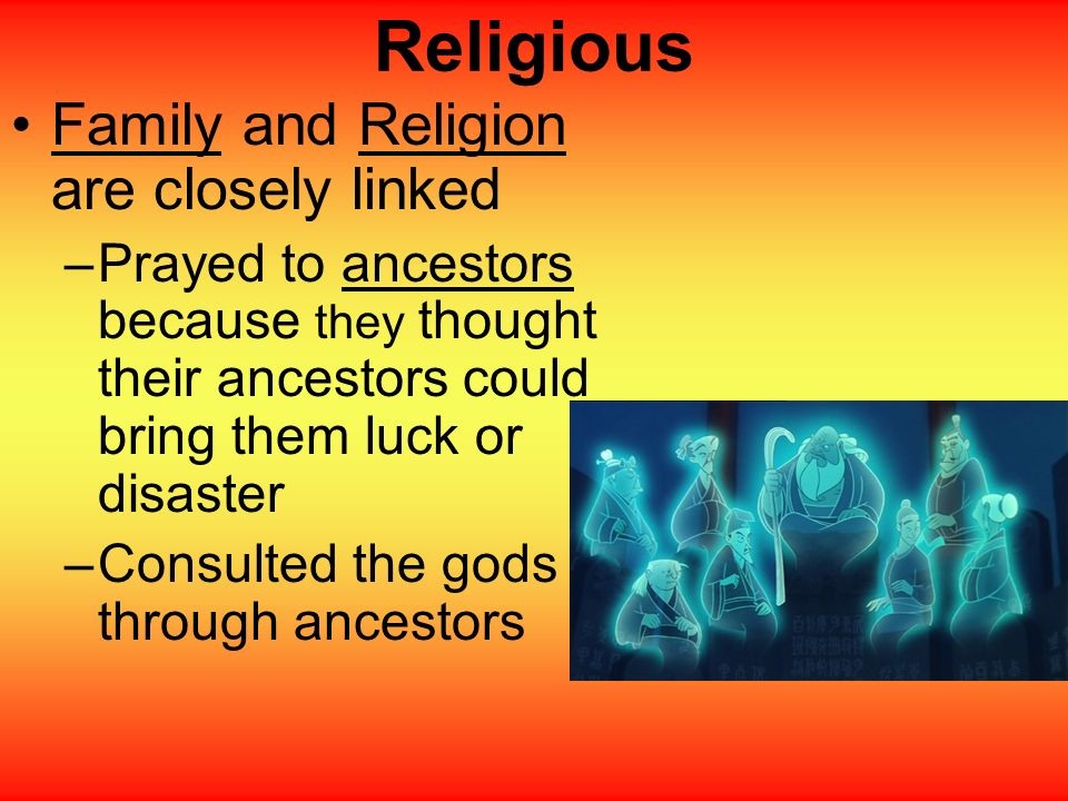 Religious Family and Religion are closely linked