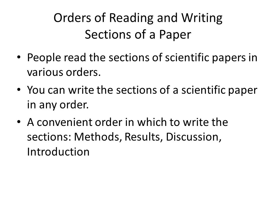 how to write an scientific paper