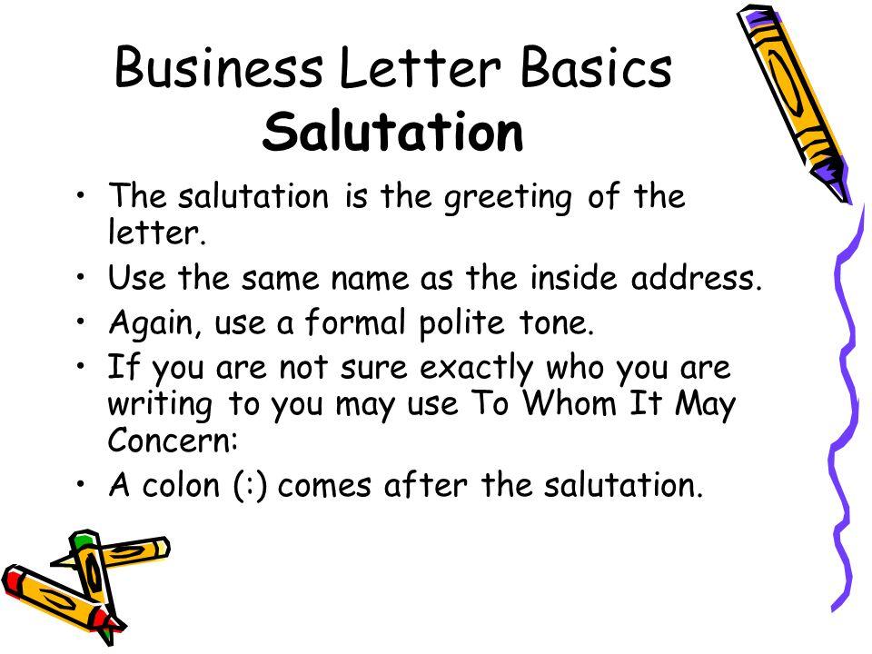 Salutation Of A Business Letter from slideplayer.com