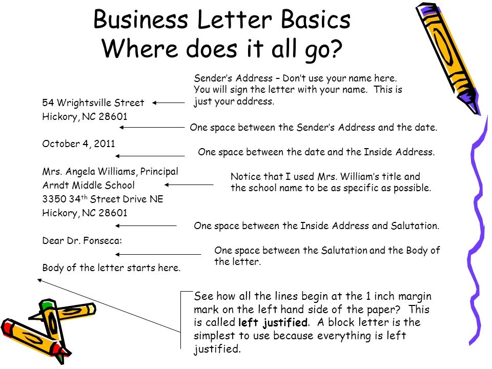 where does the date go on a letter writing a business letter ppt 128