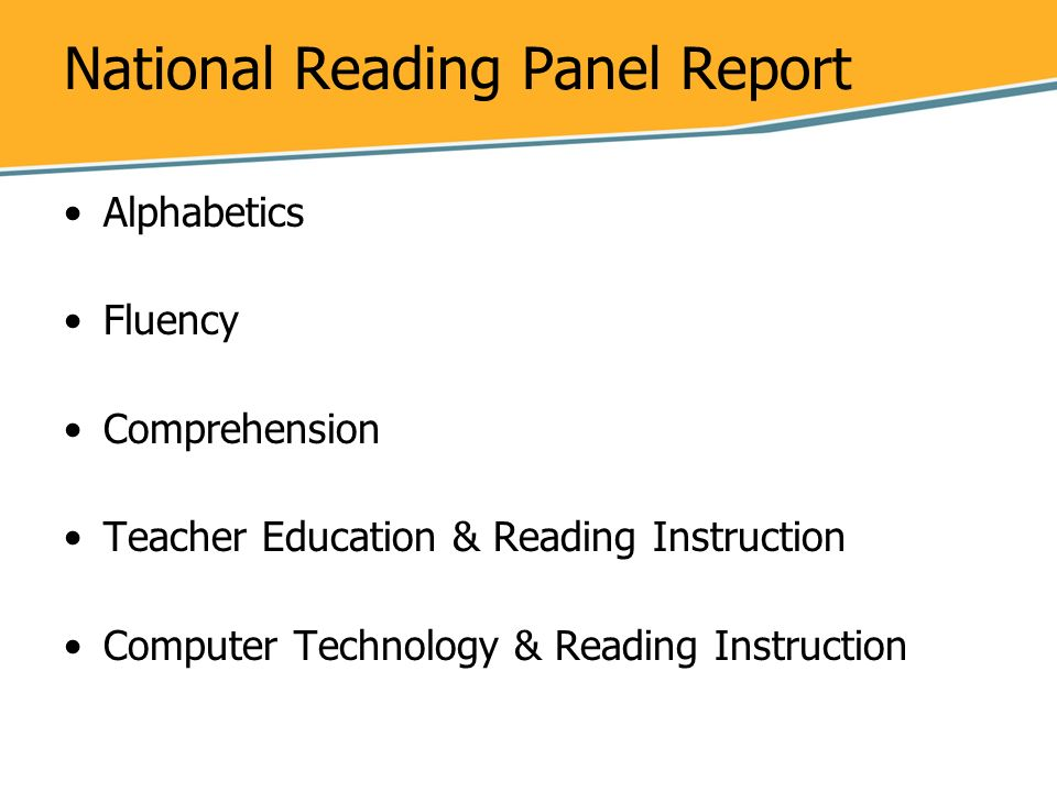 National Reading Panel Report